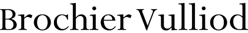 Brochier Vulliod logo texte